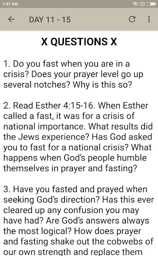 Download FASTING AND PRAYER - 40 DAYS DEVOTIONAL on PC & Mac