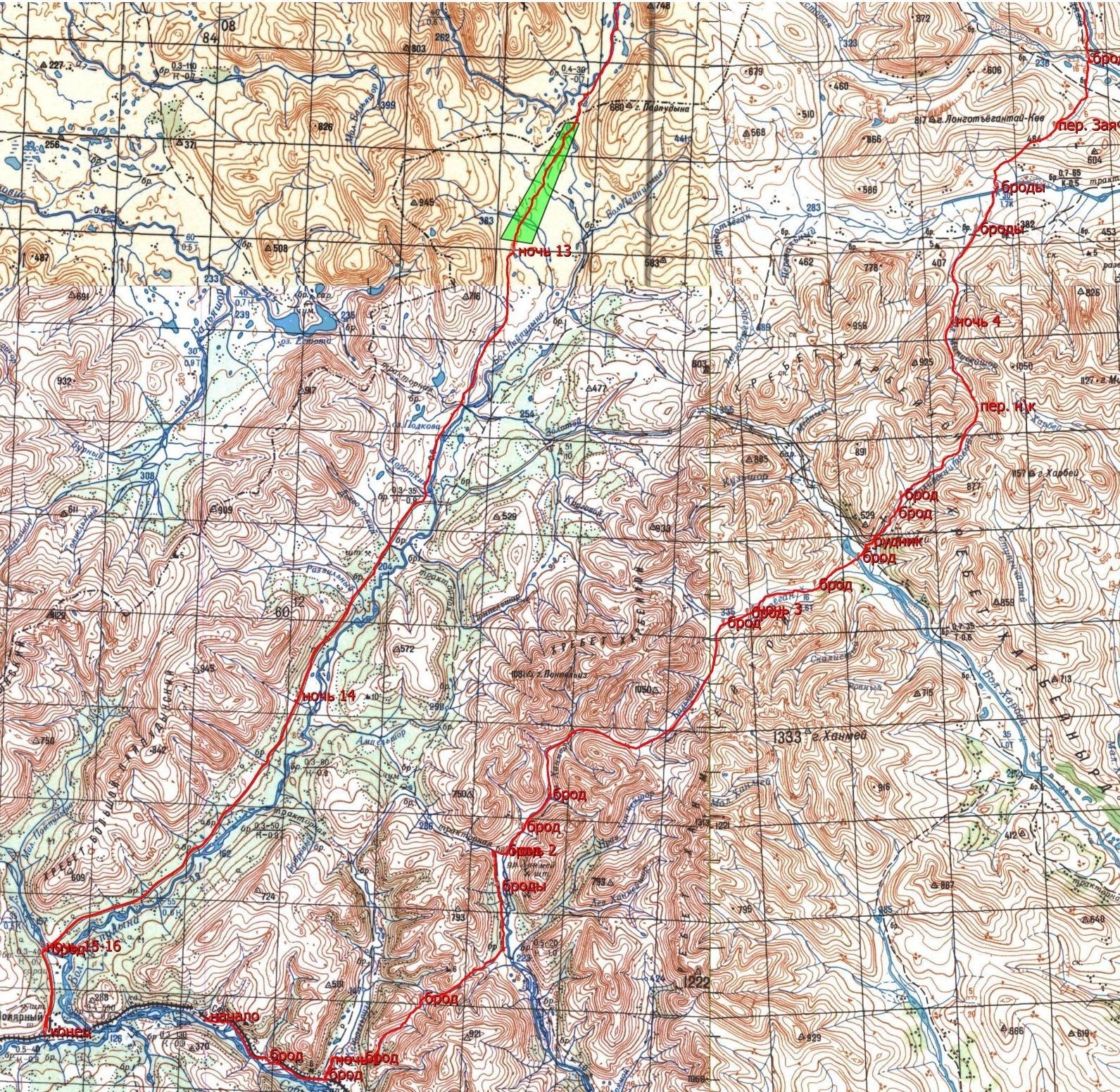 Отчёт о пешеходном туристском походе 3 категории сложности по Полярному Уралу