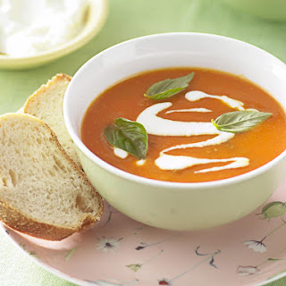 Sweet Potato, Red Pepper and Lentil Soup.