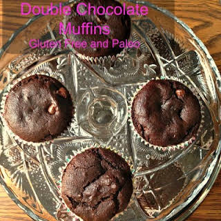Gluten Free and Paleo Friendly Double Chocolate Muffins.