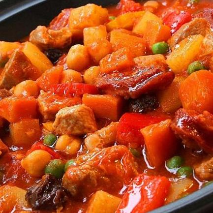 Tomato Garlic Pork Menudo