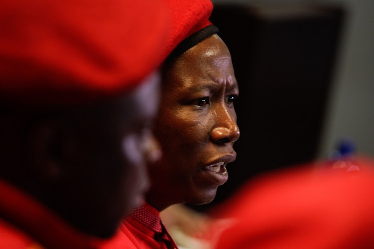 EFF leader Julius Malema. Picture: ALAISTER RUSSELL
