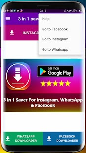 3 in 1 Saver For Instagram Whatsapp Facebook - náhled