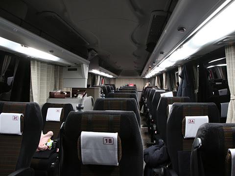 阪急バス「大阪・京都~富山線」 1145 車内