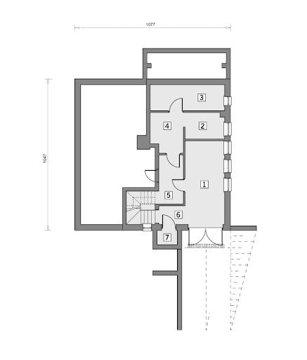 W-0109/A Etiuda - Rzut piwnicy