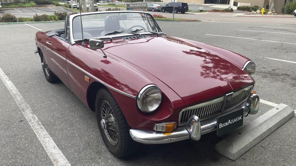 1969 MG B Red 2 door-convertible Hire CA