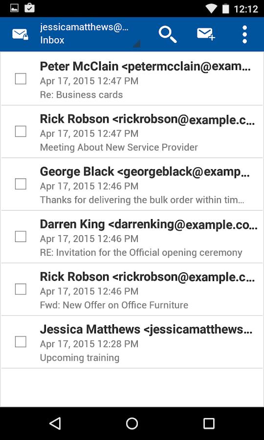 Business Class Email (BCE)- screenshot