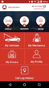 India Assistance Vendor App - náhled
