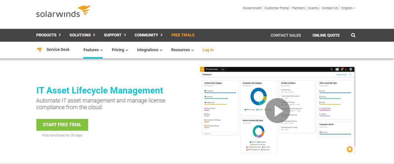 SolarWinds IT Asset Management Software