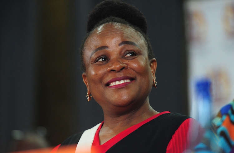 Public protector Busisiwe Mkhwebane. The Pretoria high court is expected to pass judgment on whether the public protector should have access to taxpayers' records.