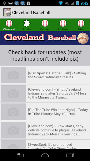 Cleveland Baseball Kit