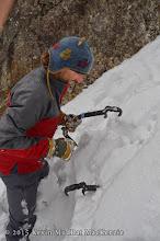 Photo: Adam Crofoot checking the snowpack.