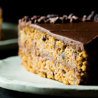 Paleo Banana Bread Cake With Dark Chocolate Ganache [Vegan, Gluten-Free].