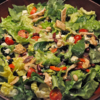 Lettuce with Turkey, Red & White Beans