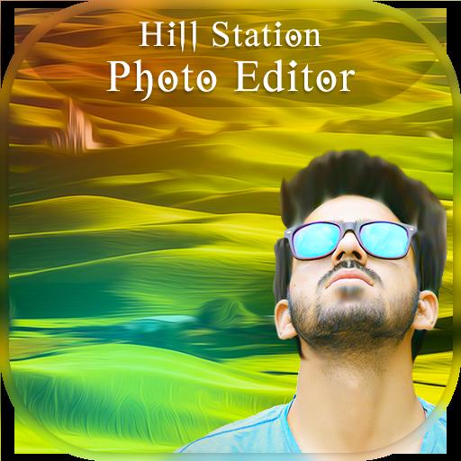 Green Hill Photo Frames : Hills Photo Editor (app)