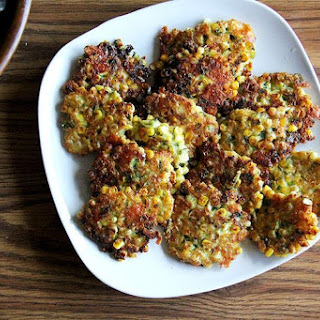 Corn Fritters with Cheddar and Scallions.