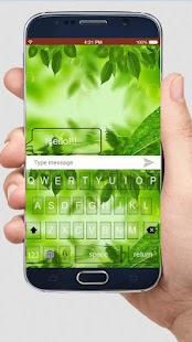 Natural Green Keyboard Themes - náhled
