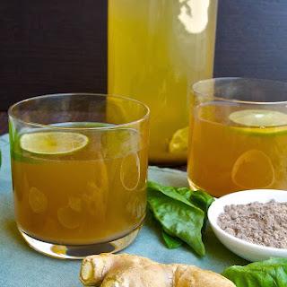 Basil Ginger Tea.