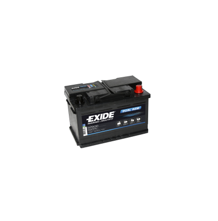 Tudor/Exide Dual AGM batteri 12V/70Ah