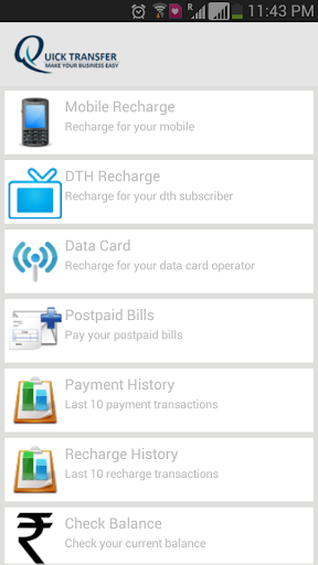 Quick Transfer -MobileRecharge