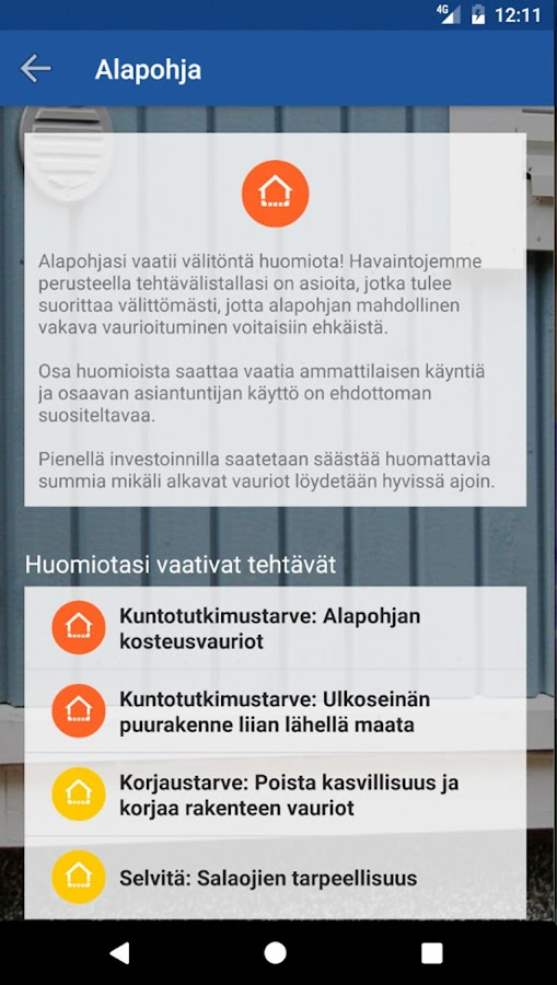 KotiApp- screenshot