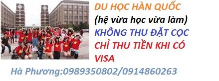 quy trinh du hoc han quoc 2016 ho tro visa xuat canh trong 3 thang