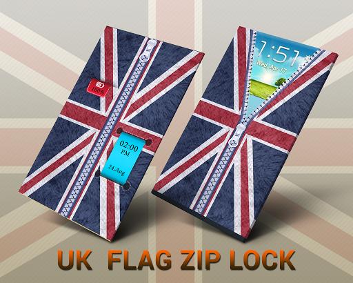 UK Flag Zipper unlocker screen