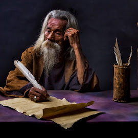 The Philosopher by Dikye Darling - People Portraits of Men ( thinker, man )
