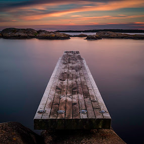 Tranquility by Bent Velling - Landscapes Waterscapes ( water, clouds, canon 6d, benro, color, dusa, zeiss flektogon 35mm, long exposure, b+w, norway, sarpsborg, 10 stop,  )