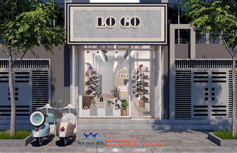 mặt tiền shop giày dép nữ