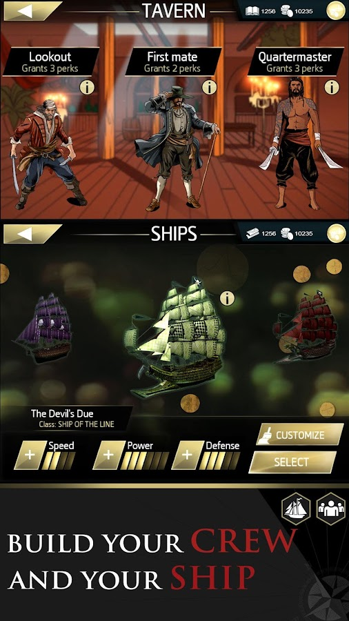 Screenshots of Assassin's Creed Pirates for iPhone