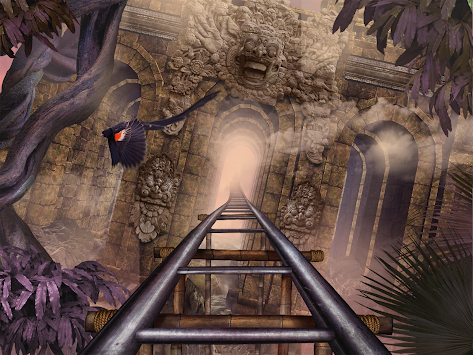 VR Roller Coaster Temple Rider apk screenshot