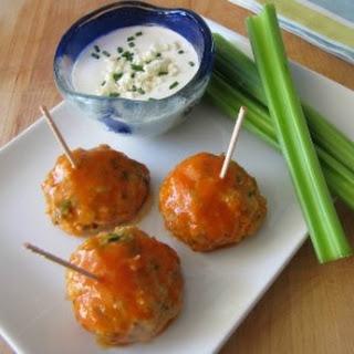 Buffalo Chicken Meatballs #SundaySupper