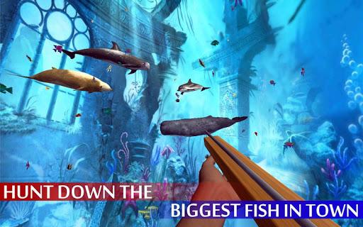 Spearfishing Wild Shark Hunter - Fishing game apkpoly screenshots 8