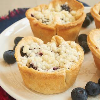 Mini Blueberry Cream Cheese Pies