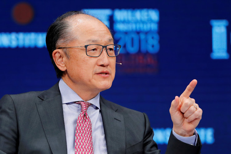Jim Yong Kim, President of the World Bank Group, speaks at the Milken Institute 21st Global Conference in Beverly Hills, California, US.