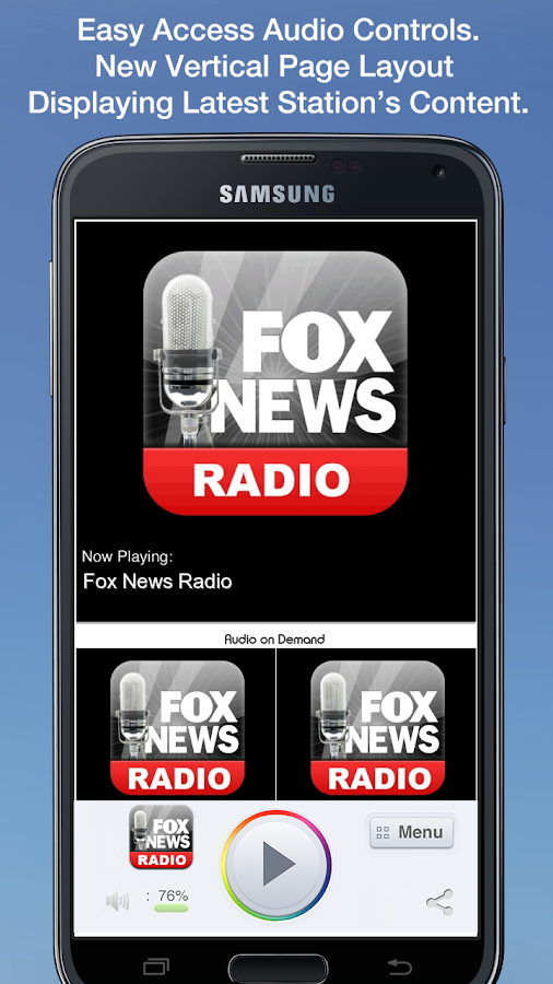 Fox News Radio- screenshot