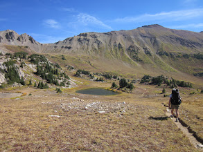 Photo: A small lake before the final climb up Trail Rider pass.