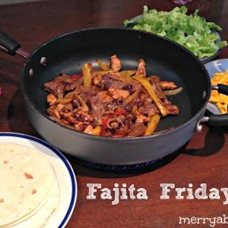 Fajita Friday (er...Saturday) with Apple Cream Cheese Enchilada Dessert (with Recipe)