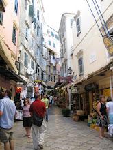 Photo: Narrow steets in Corfu