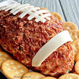 Easy Jalapeno Spiced Football Cheese Ball.