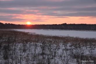 Photo: Deep winter sunset