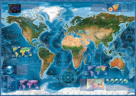 Map Art: Satellite Map (2000 pieces)