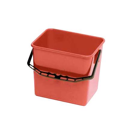 Skurhink 4-kantig röd     6 l