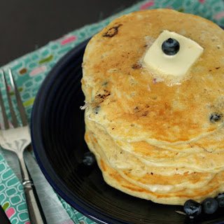 Blueberry Yogurt Oatmeal Pancakes