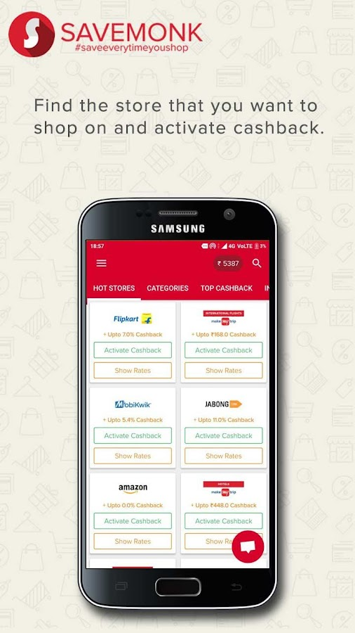 Savemonk Cashback - Cashback, Coupons and Offers.- screenshot
