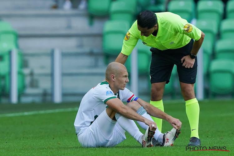 """Arjen Robben haalt opgelucht adem: """"Geen scheurtje, de schade valt mee"""""""