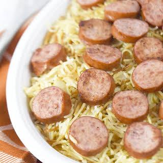 Smoked Turkey Sausage and Vermicelli Rice Pilaf.
