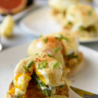 Asparagus and Crab Cake Benedict.