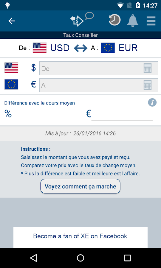 XE Currency – Capture d'écran